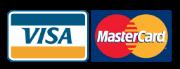 Aceptamos tarjetas Visa y Mastercard